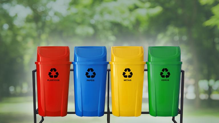 Conheça as cores da coleta seletiva separe seu lixo do jeito certo!